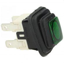 kapcsoló 2 pólusos zöld 16A 250V