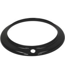 zománcozott égő fedő gyűrű fekete