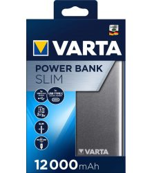 VARTA PORTABLE SLIM POWER BANK 12.000MAH + MICRO USB KABEL